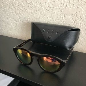 Diff Sunglasses Polarized Dime Tortoise Shell